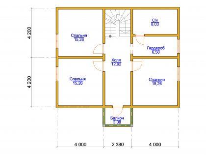 Проект дома, с размерами 10х11,2м.