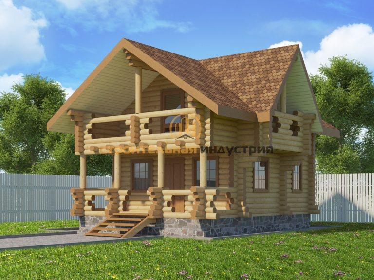 Проект дома, с размерами 5.5х7.5м.