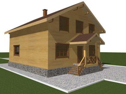 Проект дома , с размерами 12х13м.