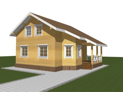 Проект дома, с размерами 9,5х10м.
