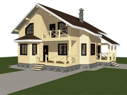 Проект дома, с размерами 11х11.5м.
