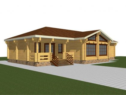 Проект дома, с размерами 14х19,5м.