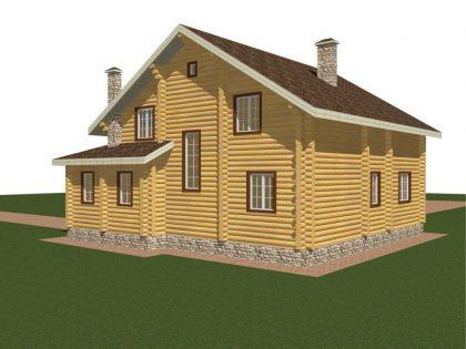Проект дома, с размерами 12х14м.