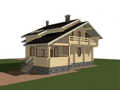 Проект дома, с размерами 13х14м.