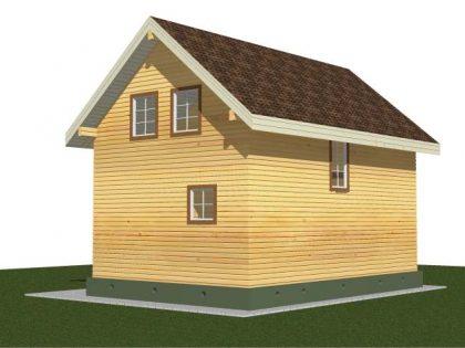 Проект дома, с размерами 6х9м.